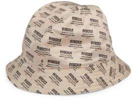 Gucci Invite Print Silk Bucket Hat