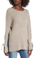Lush Women's Tie Sleeve Sweater