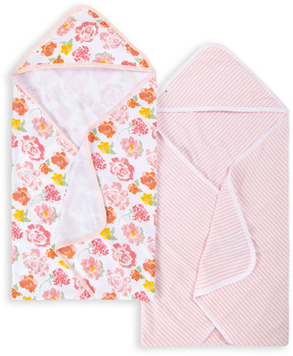 Burt's Bees Rosy Spring Organic Baby Hooded Towels 2 Pack