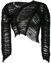 Isabel Benenato asymmetric ladder stitch sweater