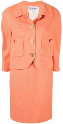 Chanel Pre-Owned CC button dress suit