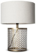 J. Hunt Open Metal Circle Pattern Table Lamp (Includes CFL Bulb)