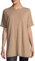Eileen Fisher Short Sleeve Seamless Italian Cashmere Tunic