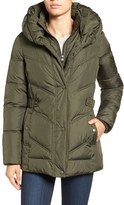 Larry Levine Women's Pillow Collar Quilted Coat