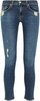 Rag & Bone Distressed low-rise skinny jeans