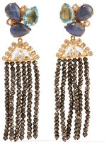 Bounkit Gold-Tone Multistone Earrings