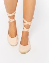 Asos JEMIMA Ballet Tie Leg Espadrilles