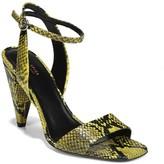 Via Spiga Ria Leather Snakeskin Embossed Sandal