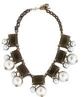 Kate Spade Faux Pearl & Crystal Collar Nekclace