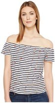 Lucky Brand Stripe Off the Shoulder Top Women's Clothing