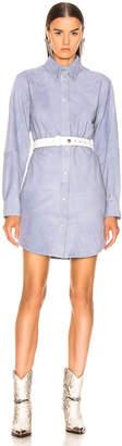 Etoile Isabel Marant Senna Leather Dress in Lavender | FWRD