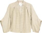 Cotton cropped jacket