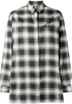 No.21 embellished cat checked shirt