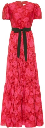 Erdem Triin floral fil coupe gown