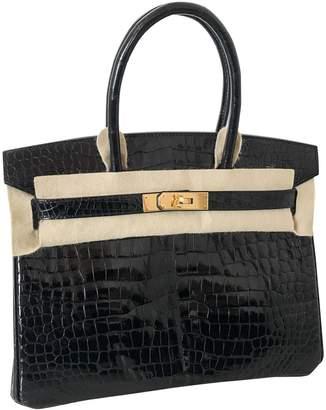 Hermes Birkin 30 Black Crocodile Handbags