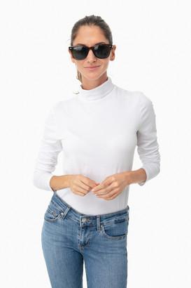White + Warren White Modal Turtleneck Shirt