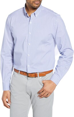 Cutter & Buck Soar Classic Fit Windowpane Check Shirt