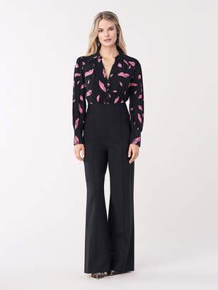 Diane von Furstenberg June Wool Wide-Leg Jumpsuit
