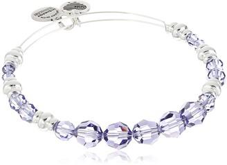 "Alex and Ani Swarovski Beaded"" Royal Expandable Wire Silver Bangle Bracelet"