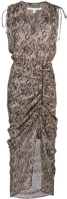 Veronica Beard Snakeskin Print Midi Dress