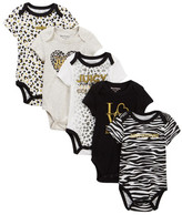 Juicy Couture Animal Print Bodysuits - Pack of 5 (Baby Girls)