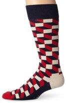 Happy Socks Men's 1 Pack Comfortable Unisex Combed Cotton Crew