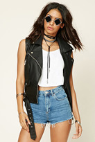 Forever 21 FOREVER 21+ Faux Leather Moto Vest