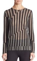 "Akris Untitled"" Stripe Intarsia-Knit Pullover"