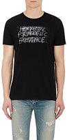 """Saint Laurent Men's """"Hermetic Psychedelic Existence"""" Cotton T-Shirt-BLACK"""