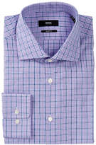 HUGO BOSS Miles Plaid Trim Fit Dress Shirt