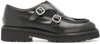 Doucal's Front Buckle Loafers