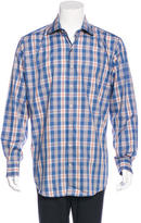 Peter Millar Plaid Button-Up Shirt w/ Tags