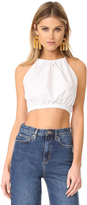 Rebecca Taylor Sleeveless Poplin Crop Top