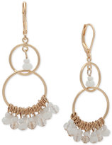 lonna & lilly Gold-Tone White Shaky Bead Double Drop Earrings
