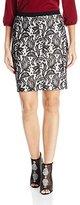 Karen Kane Women's Bonded Lace Skirt