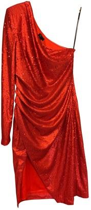 NBD Red Glitter Dress for Women