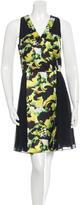 ICB Sleeveless Printed Silk Dress w/ Tags