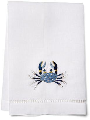 Hamburg House Crab Guest Towel - Blue/White