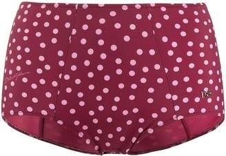 Dolce & Gabbana Polka Dot Print Bikini Bottoms
