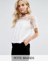 Miss Selfridge Petite 3D Lace Applique Top