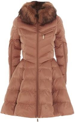 Elisabetta Franchi Faux Fur Circle Quilted Coat
