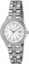 Anne Klein Women's AK/2505SVSV Swarovski Crystal Accented Silver-Tone Bracelet Watch