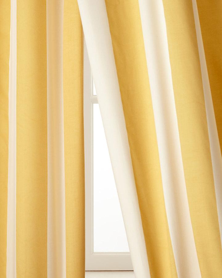 "Pine Cone Hill Each 50""W x 96""L Madeline Striped Curtain"