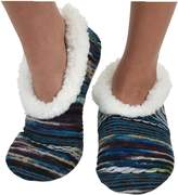 Womens Artisan Yarn Sherpa Snoozies Slipper Socks