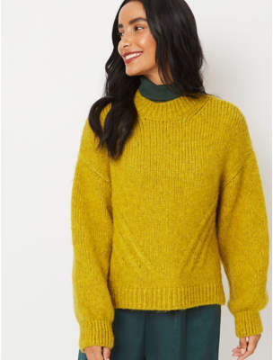 George Lime High Low Hem Boxy Jumper