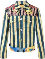 Fendi John Booth stripe denim jacket - men - Cotton/Lamb Fur - 48