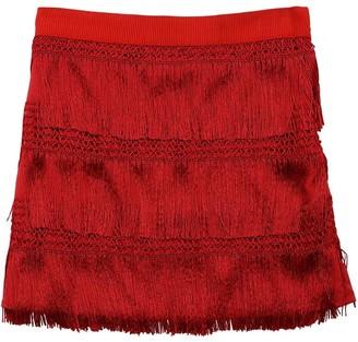 Alberta Ferretti Mini Skirt W/ Fringes
