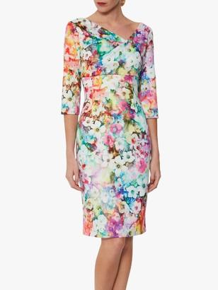Gina Bacconi Muriella Floral Scuba Dress, Multi
