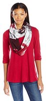 Amy Byer A. Byer Juniors Trapeze Top with Scarf