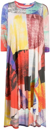 Henrik Vibskov Blurry Lights print asymmetric hem dress
